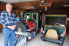 Locomotive and C-cab created by local builder