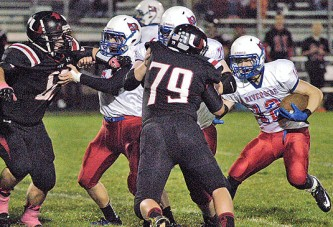 Riverside's running game proves to be too much for USV