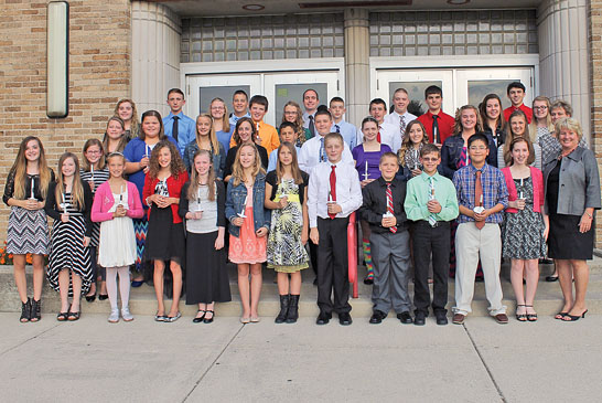 KMS Honor Society inductees