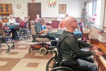Playing and singing for Hardin Hills residents