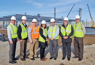 International Paper officials observe progress of Kenton plant expansion