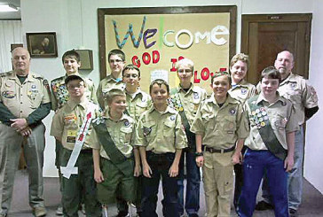Boy Scout Troop 124 gathers for Court of Honor