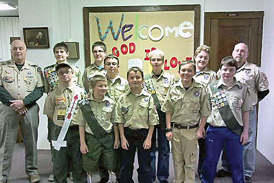 Boy Scouts honored