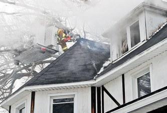 Blaze damages Forest home