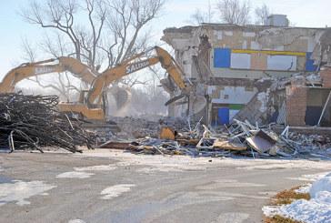 School building demolition