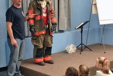 Firefighter visits kids
