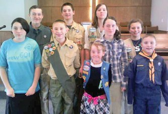 Church holds Scout Sunday