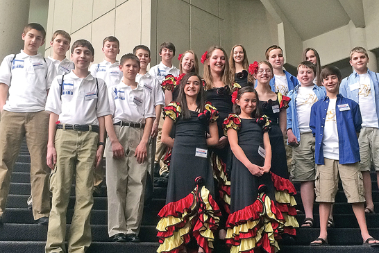 Ben Logan Middle School students participated in the Ohio Model United Nations conference