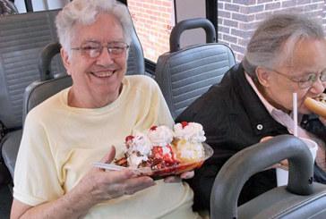 Enjoying treats during ride