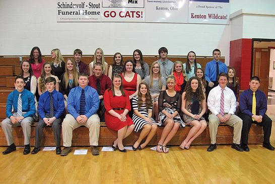 Kenton High School National Honor Society inductees