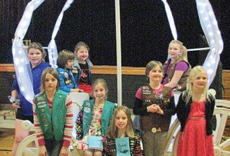 Girl Scouts attend HN play 'Cinderella'