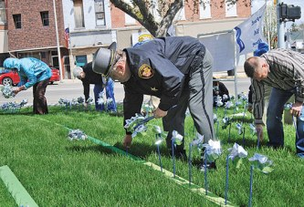 Pinwheels at courthouse