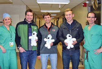 ONU honor society chapter presents polar bears to HMH