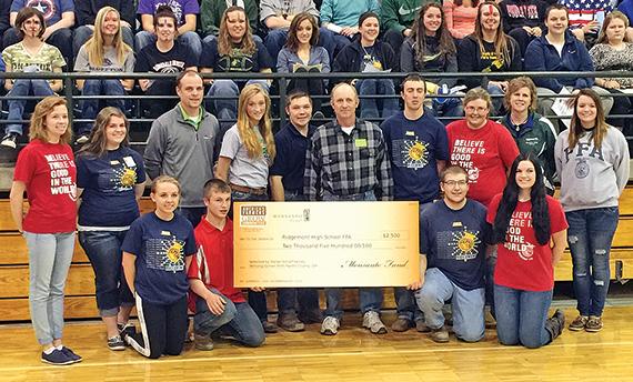 Ridgemont FFA donation