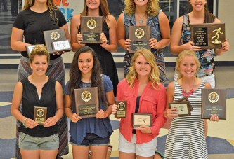 Riverdale hands out special awards for girls track and field