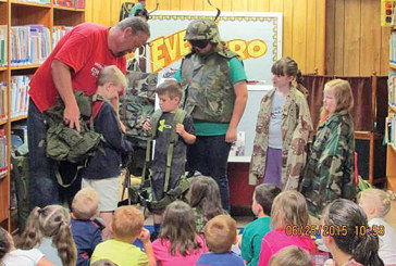 Ridgemont readers get to see military uniforms, equipment
