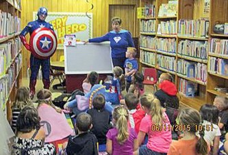 Captain America visits