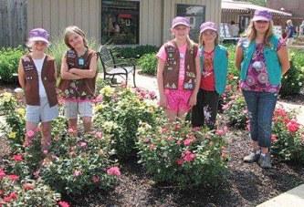 Dunkirk Girl Scouts learn gardening skills at Friendship Garden