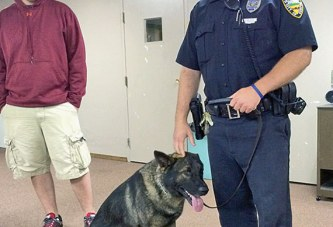 County retired teachers learn about narcotics dog