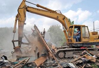 Demolished house