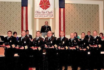 Kenton Chief Blue honored by Ohio Fire Chiefs group
