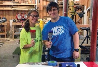 KHS exchange students create flag project