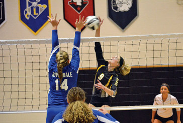 Hardin Northern volleyball gets by Riverdale in four sets