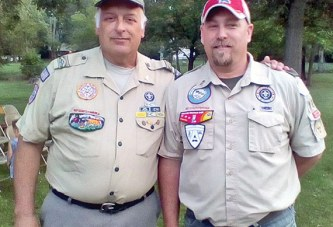 Scoutmaster Tom Lehman turns Troop 124 over to new leader