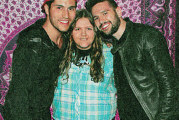 Posing with Dan and Shay