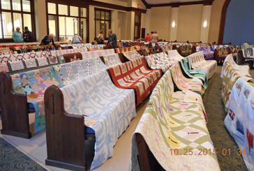 Quilts on display in Ada