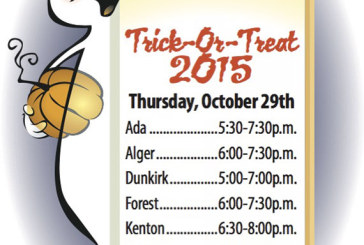 Trick-or-Treat times set