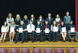 Nine join USV's National Honor Society