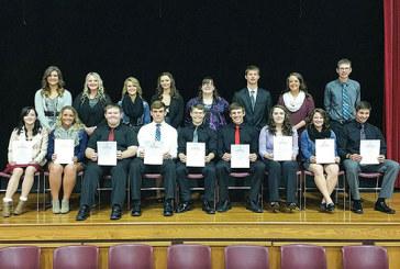 Nine join USV's National Honor Society