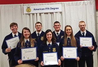 Seven from Benjamin Logan FFA earn American Degree