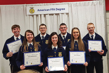 Seven from Benjamin Logan FFA earn American Degree