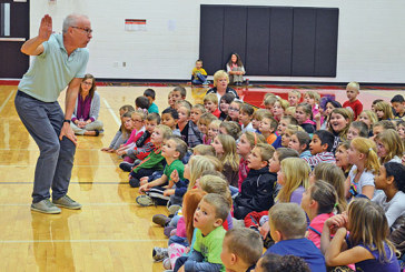 Animated author/illustrator shares love of his craft with Kenton Elementary students