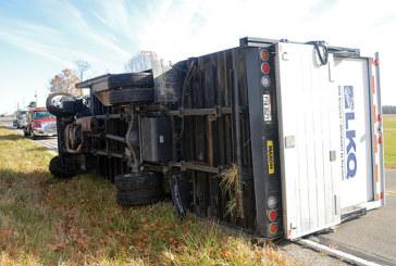 Flipped truck