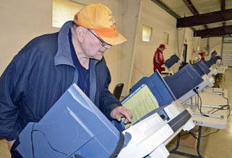 Casting his vote