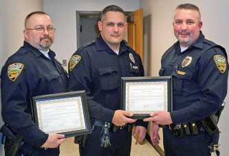 Four officers commended for 'acts of heroism'