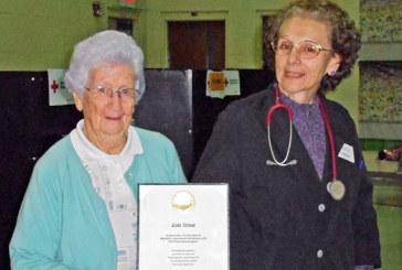Red Cross volunteer retires