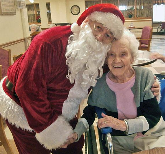 Visiting with Santa