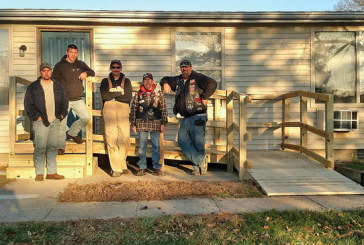 Riders help build rams