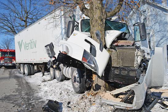 Driver injured