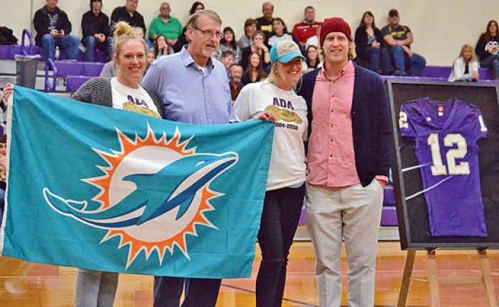 Ada High School retires number worn by alum Zac Dysert