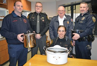 Competition heats up between safety forces for benefit chili cookoff