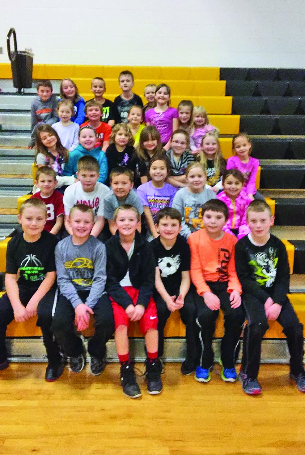 HN students of the month, grades K-3