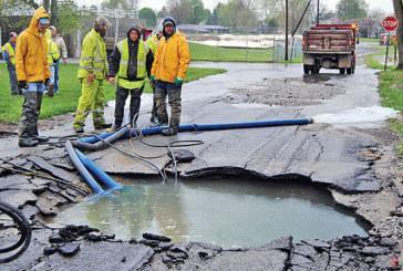 Main break shuts off water service in Kenton