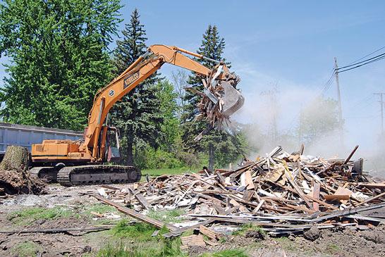 House razed