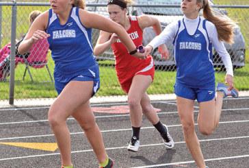 Falcon girls win Hardin Co. meet