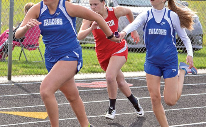 Falcon girls win Hardin Co. meet